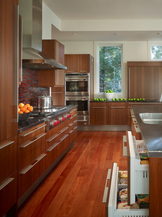 Red Tile Backsplash Home Design Ideas, Pictures, Remodel and Decor