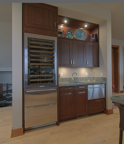 Perfect Wet bar and wine fridge project CE91