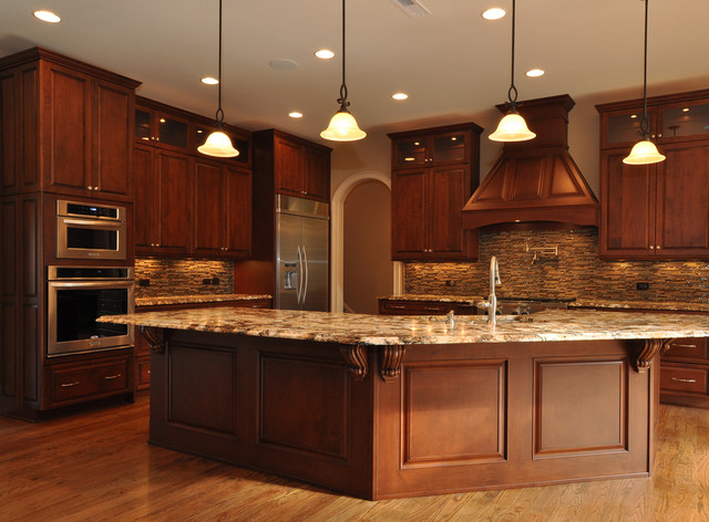 Warmth And Grandeur Traditional Kitchen