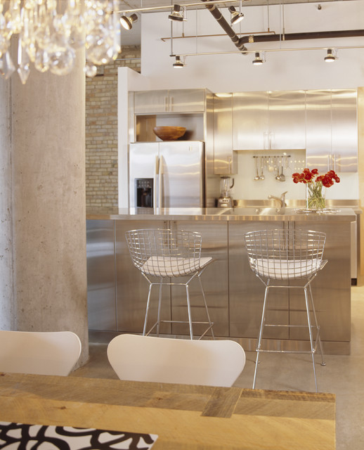 Washburn Loft Kitchen contemporary-kitchen