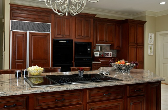Washington Cherry Reface - Traditional - Kitchen - other metro - by Kitchen Magic