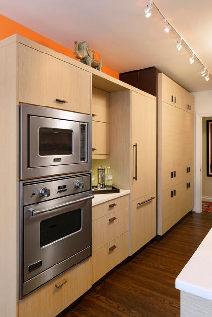 Northwest Washington DC Contemporary Condo Galley Kitchen Design - Contemporary - Kitchen - DC ...