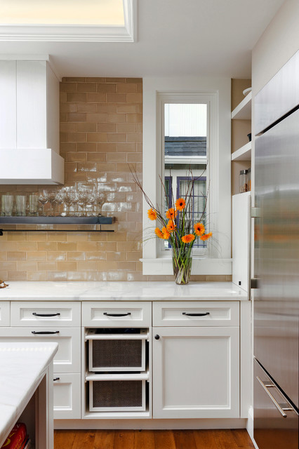 Washington Dc Transitional Kitchen Design Creates Warm And Inviting Space Transitional