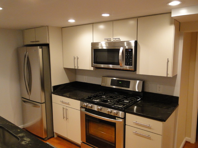 Washington, DC Basement Remodel modern kitchen