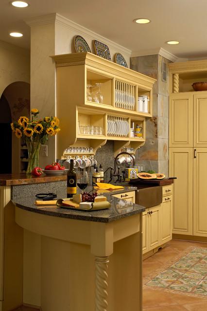 Washington Dc Traditional Yellow Kitchen Design