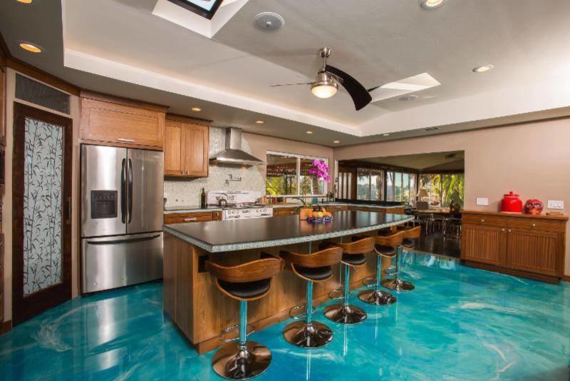 Water Look Epoxy Floor Tropical Kitchen Salt Lake City By Alpha Concrete Coatings Houzz