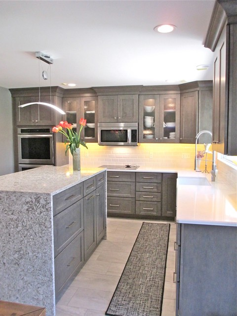 Waterfall Island Kitchen - Traditional - Kitchen - Other - by Callier ...