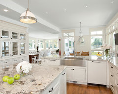 Waterfront Estate traditional kitchen