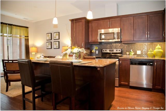 Waterloo Model Condo traditional-kitchen