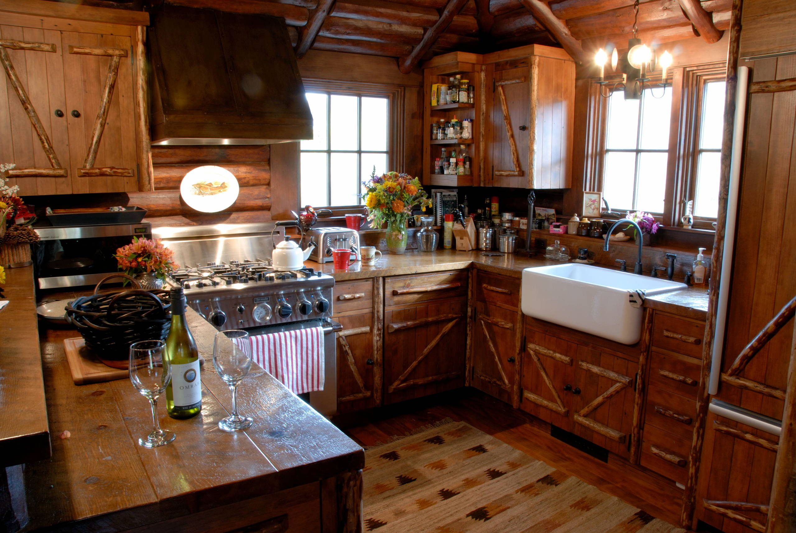 - Small Log Cabin Kitchens Houzz