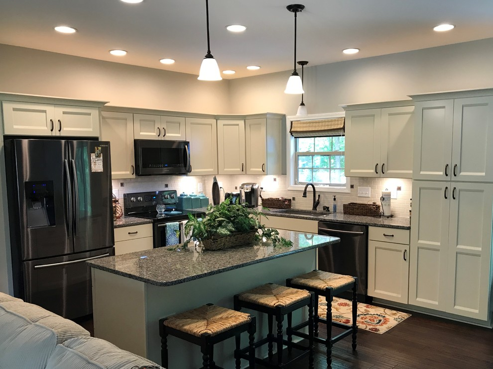 Waypoint And Contractors Choice Cabinetry Painted Silk Kitchen Indianapolis By Concepts The Cabinet Shop