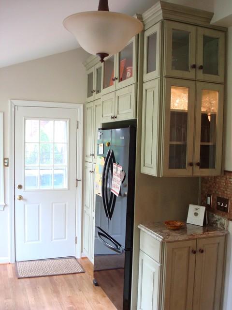 Weathered Sage w/ Copper Sink farmhouse-kitchen