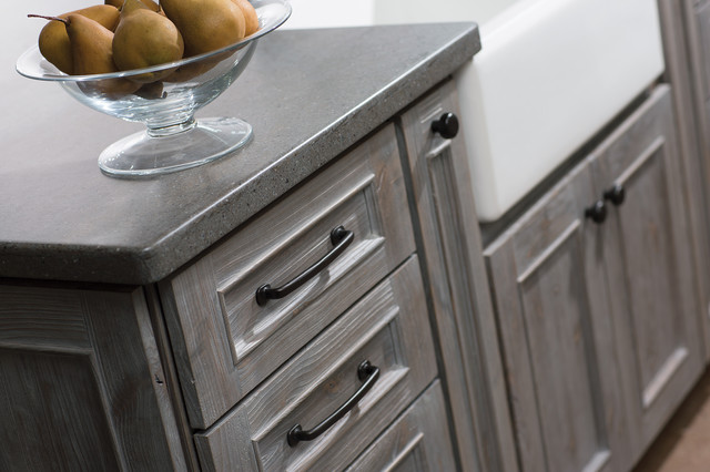 Weathered Wood Kitchen Island - Farmhouse - Kitchen - San Diego - by Dura Supreme Cabinetry