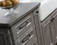 Weathered Wood Kitchen Island farmhouse-kitchen
