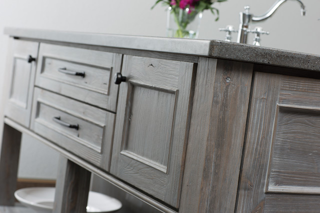 Weathered Wood Kitchen Island - Rustic - Kitchen - San Diego - by Dura Supreme Cabinetry
