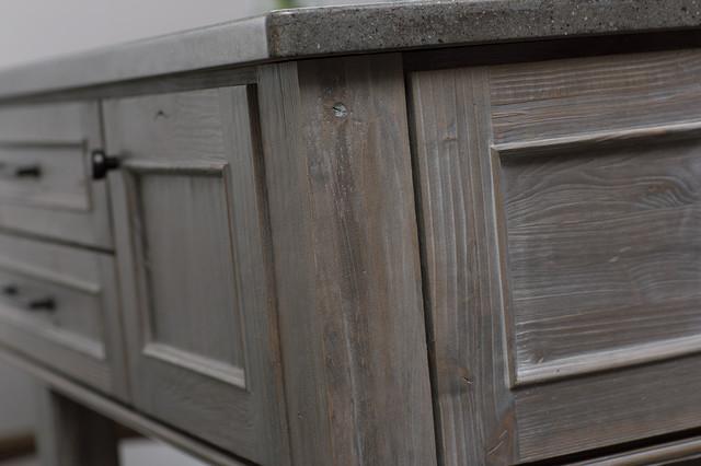 Weathered Wood Kitchen Island - Contemporary - Kitchen - san diego ...
