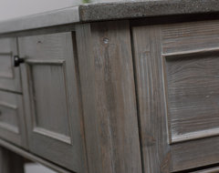 Weathered Wood Kitchen Island contemporary-kitchen