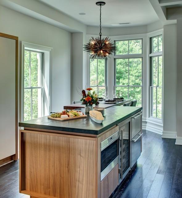 Weehaken Walnut Kitchen Contemporary Kitchen New York By Modiani Kitchens