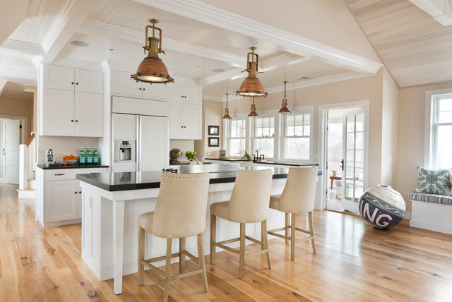Example Of An Ornate Kitchen Design In Providence With A Farmhouse Sink Shaker Cabinets