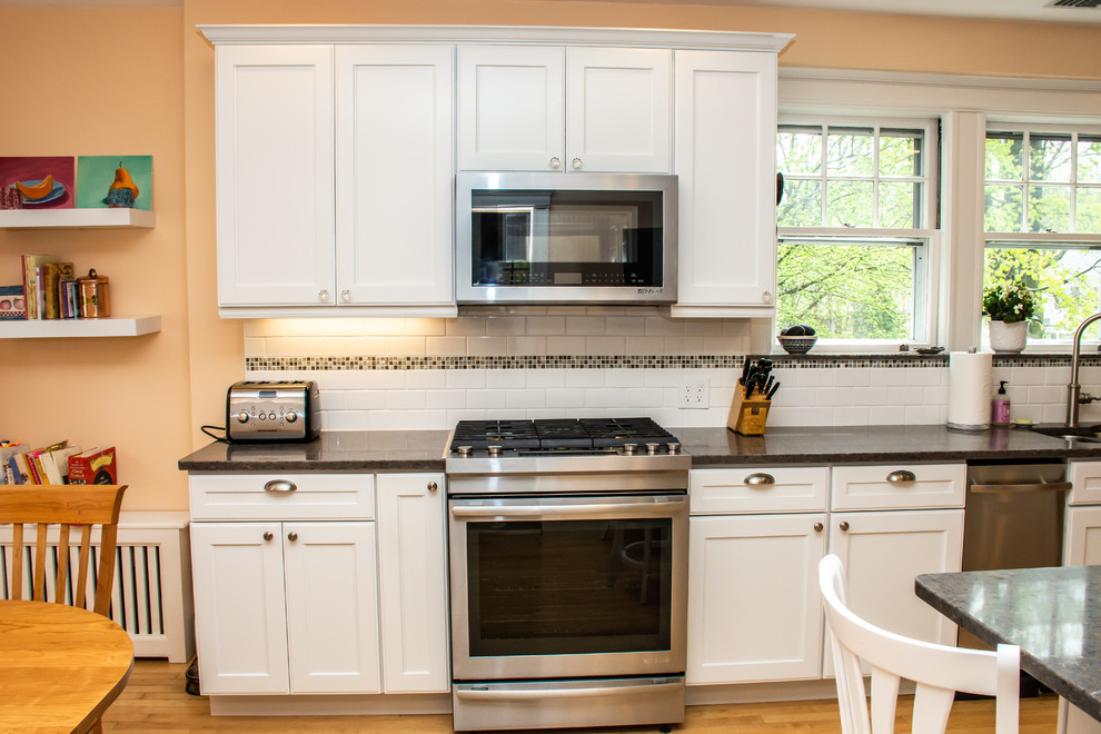 Wellesley Kitchen In Craftsman Style Home Traditional Kitchen Boston By The Corner Cabinet