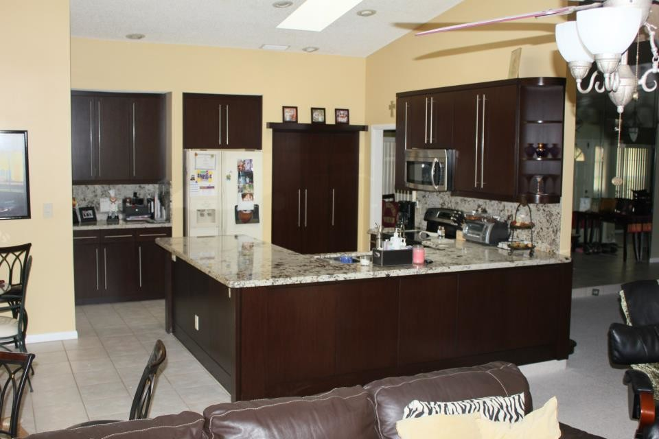 Wenge Kitchen Cabinets Contemporary Kitchen Miami By Art Of Woodworking Inc