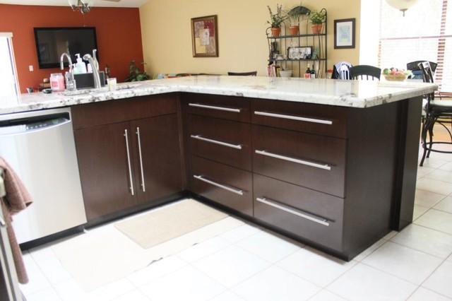 Wenge Kitchen Cabinets - Contemporary - Kitchen - miami ...