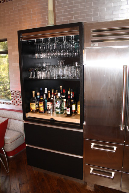 This Liquor cabinet is part of a Wenge kitchen. The custom cabinet has ...