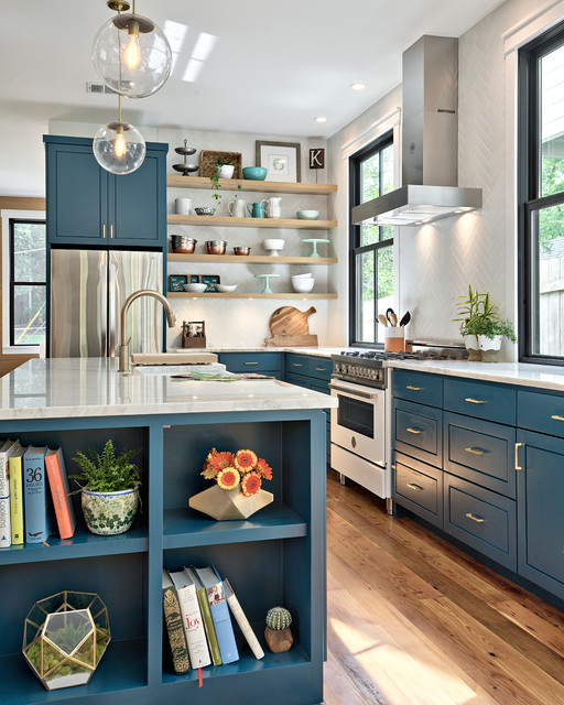 Is This The Year Blue And Green Kitchen Cabinets Edge Out White