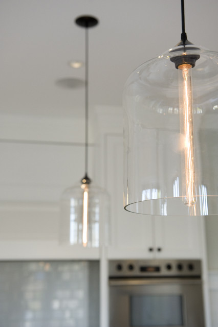 West 4th Renovation featuring Niche Modern Bell Jar Pendant Lights modern kitchen
