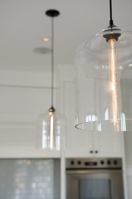West 4th Renovation featuring Niche Modern Bell Jar Pendant Lights modern-kitchen