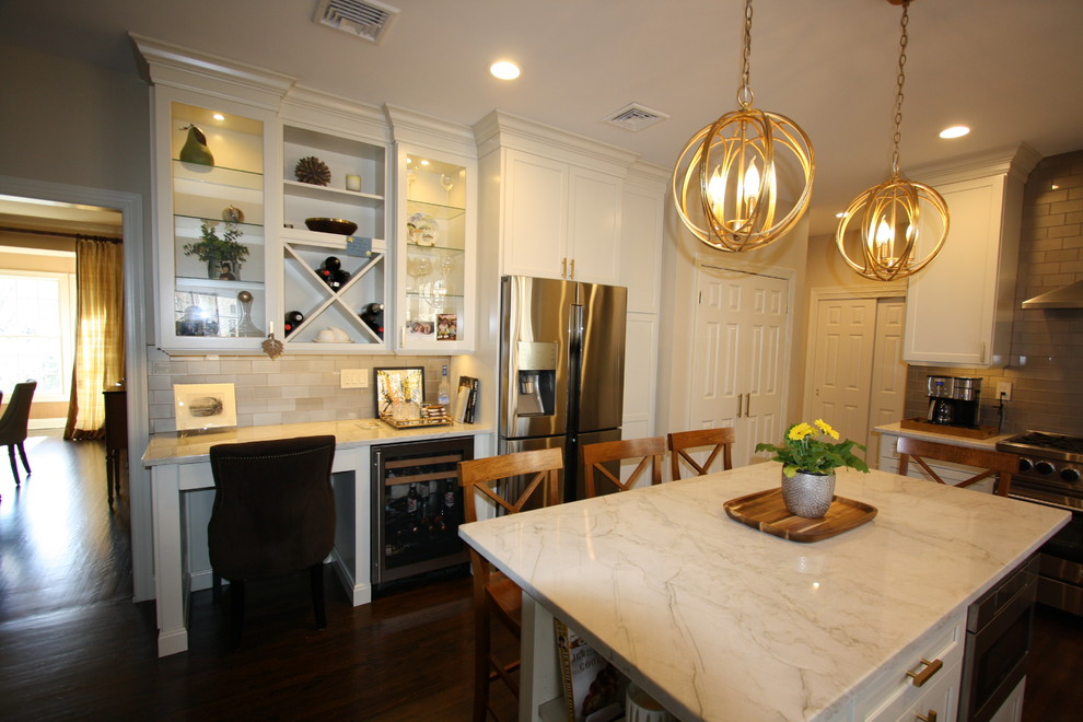 West Caldwell NJ Transitional Kitchen - White Painted ...