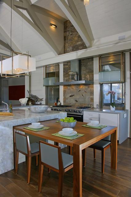West Chop Residence Kitchen contemporary-kitchen