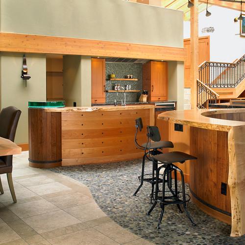 River Rock Kitchen: Green River Rock Tiles
