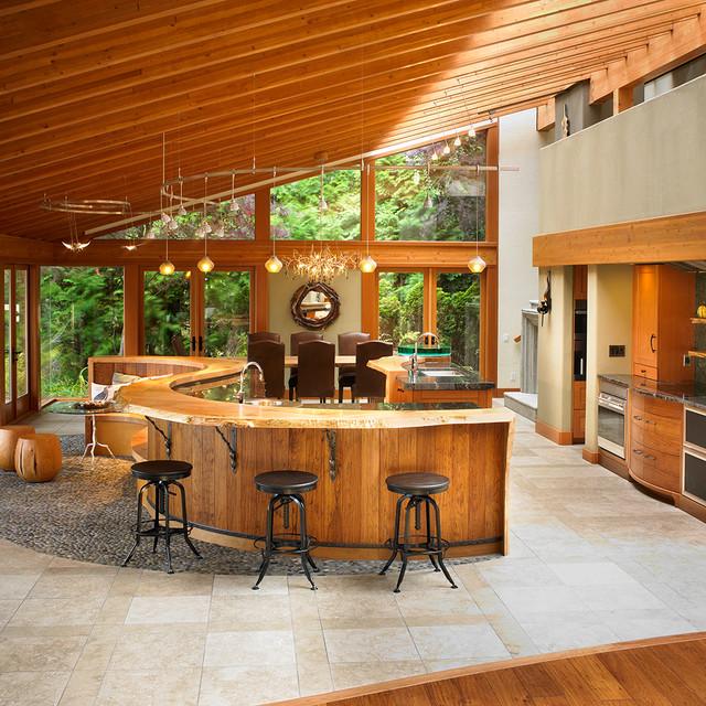 West Coast Fusion contemporary-kitchen