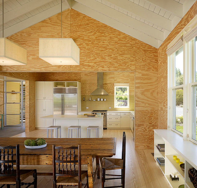 example of a country l shaped eat in kitchen design in san francisco with - Plywood Kitchen Decor