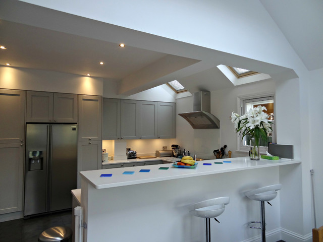 West ealing kitchen modern kitchen london by wood for Kitchen ideas ealing
