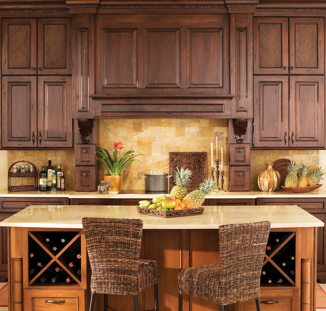 West indies beauty tropical kitchen hawaii by dura for Tropical themed kitchen