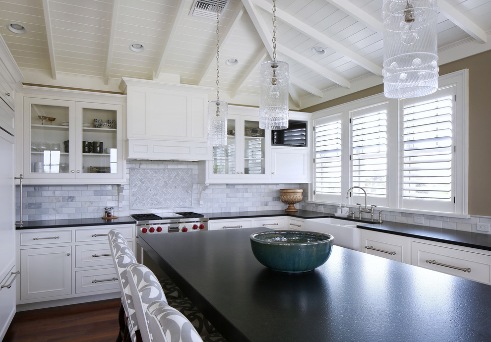 Island style kitchen photo in Tampa