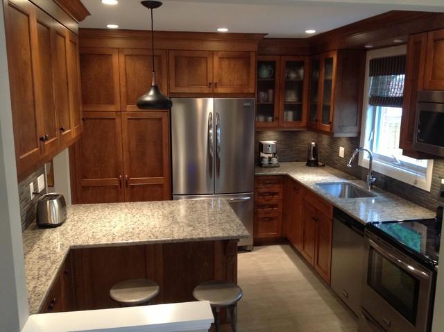 west island kitchen transitional kitchen montreal