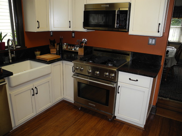West Islip Soapstone Counters traditional-kitchen