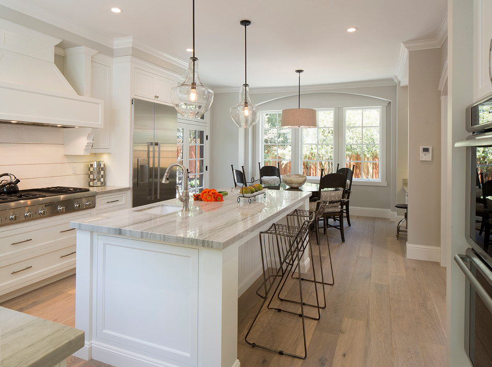 Example of a mid-sized transitional kitchen design in San Francisco