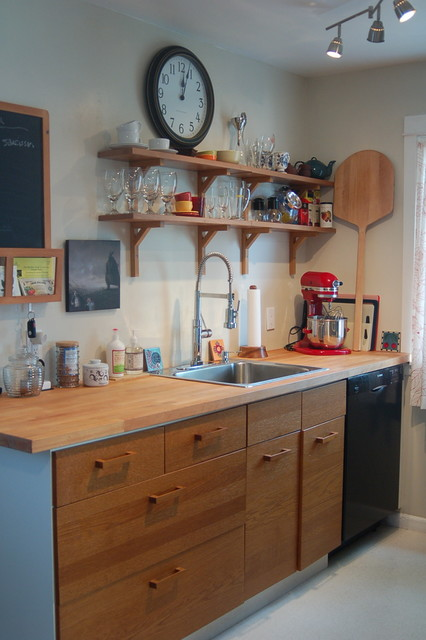 West Seattle cottage eclectic-kitchen