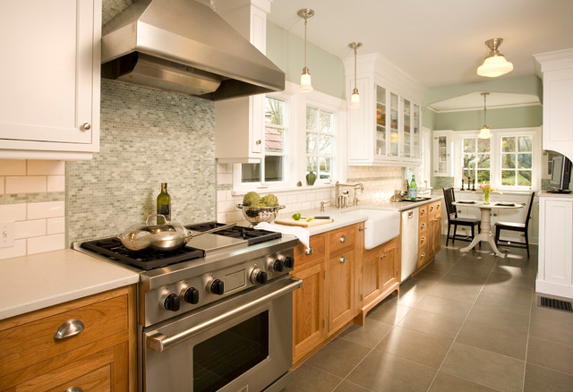 West tabor house contemporary kitchen portland by for Different kitchen colors