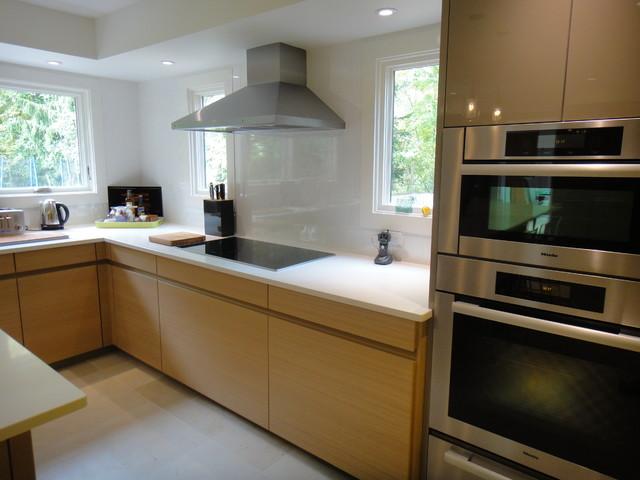 Westchester Luna Sand Grey Avance H Textured Oak Contemporary Kitchen New York By