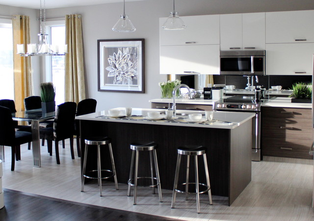 Western Living Home Showhome. Interior design by Lori Elms Design Group contemporary-kitchen