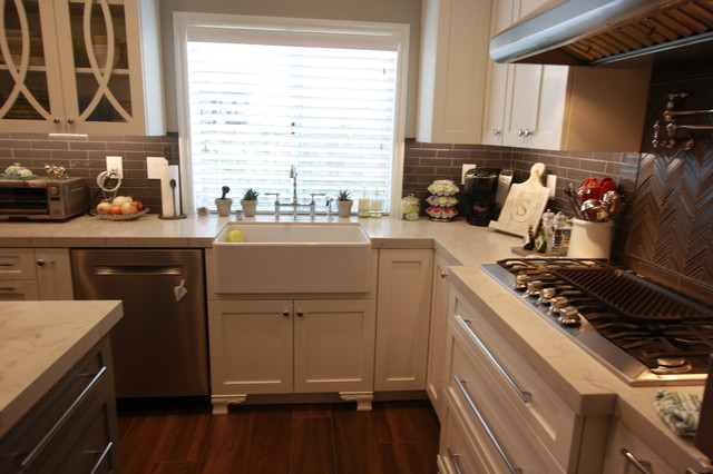 Westlake Village Custom Kitchen Cabinets Arts Crafts Kitchen Los Angeles By Andrews Fine Cabinets And Millwork Houzz Ie