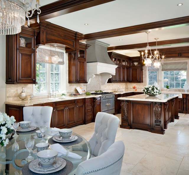 Westlake village french provincial traditional Kitchen design for village