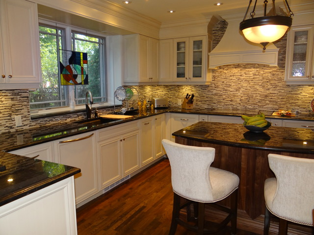 Westmount residence transitional kitchen traditional for Kitchen design montreal
