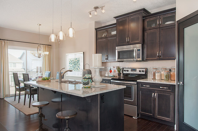 Weston Show Home in Sage Hill (NW Calgary) traditional-kitchen