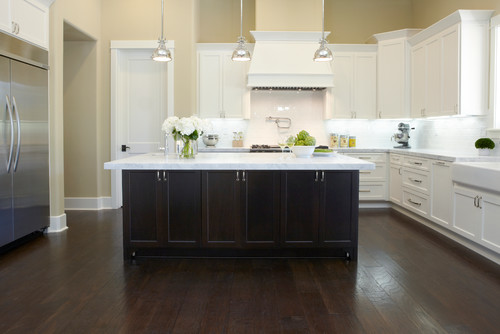 stained kitchen cabinets are floors oak stained espresso are they engineered or 2461
